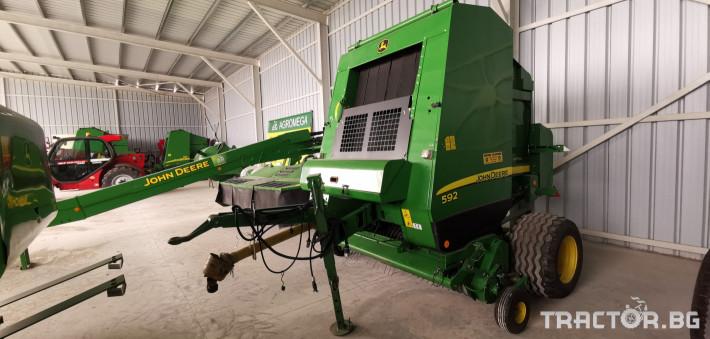 Сламопреси John-Deere Claas 592 МРЕЖА 15 - Трактор БГ